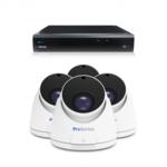 Beveiligingscamera set 4 x Dome camera – 5MP 2K HD – Draadloos