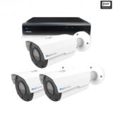 Beveiligingscamera set 3 x Bullet camera 8MP 4K UHD – Draadloos _