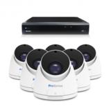 Beveiligingscamera set met 6 Dome camera  5MP 2K HD  Draadloos _