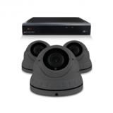 Bewakingscamera set met 3 Dome camera – 4MP 2K HD – Draadloos _
