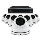 Bewakingscamera set met 8 Dome camera – 4MP 2K HD – Draadloos wit_
