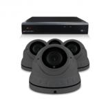 Camerabewaking set met 4 Dome camera – 4MP 2K HD – Analoog _