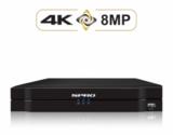 4 ch. recorder met SPRO 3 x 2MP IP-turret kleur nachtzicht camera_