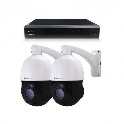 Beveiligingscamera set 2 x bestuurbare PTZ Dome camera – 5MP – Draadloos