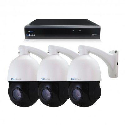Beveiligingscamera set 3 x bestuurbare PTZ Dome camera – 5MP – Draadloos