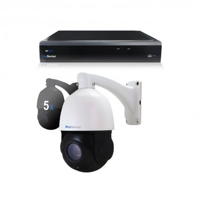 Beveiligingscamera set 5 x bestuurbare PTZ Dome camera – 5MP – Draadloos