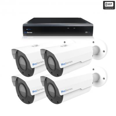 Beveiligingscamera set 4 x Bullet camera 8MP 4K UHD – Draadloos