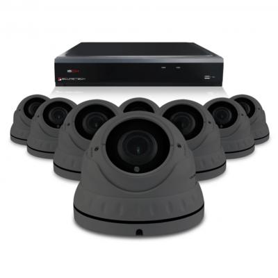 Bewakingscamera set met 8 Dome camera – 4MP 2K HD – Draadloos ( antraciet )