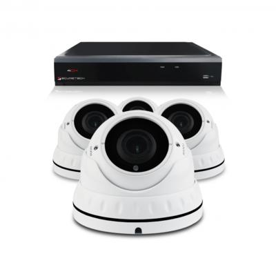 Bewakingscamera set met 4 Dome camera – 4MP 2K HD – Draadloos
