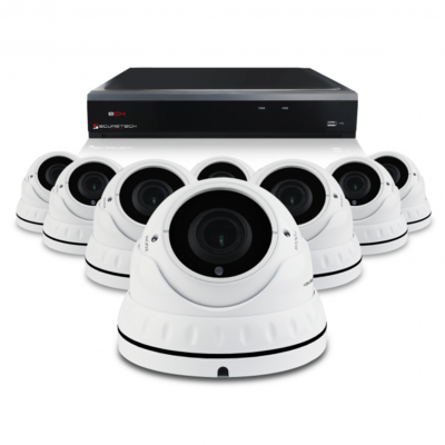Bewakingscamera set met 8 Dome camera – 4MP 2K HD – Draadloos wit