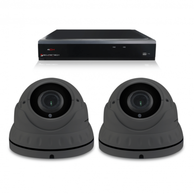 Camerabewaking set met 2 Dome camera – 4MP 2K HD – Analoog