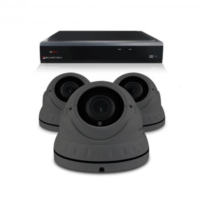 Camerabewaking set met 3 Dome camera – 4MP 2K HD – Analoog