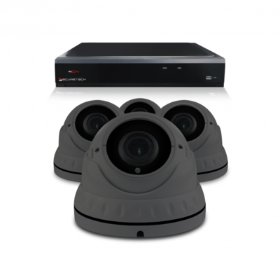 Camerabewaking set met 4 Dome camera – 4MP 2K HD – Analoog