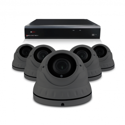 Camerabewaking set met 5 Dome camera – 4MP 2K HD – Analoog