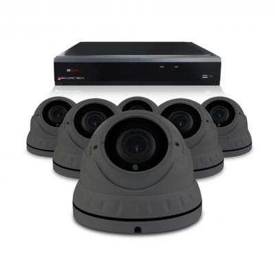 Camerabewaking set met 6 Dome camera – 4MP 2K HD – Analoog
