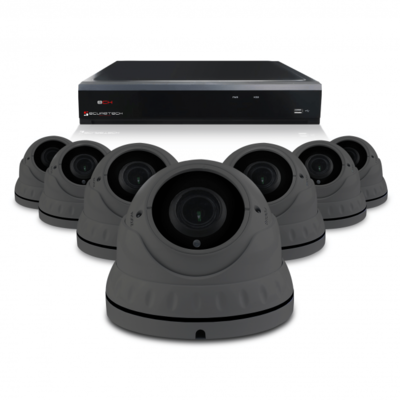 Camerabewaking set met 7 Dome camera – 4MP 2K HD – Analoog