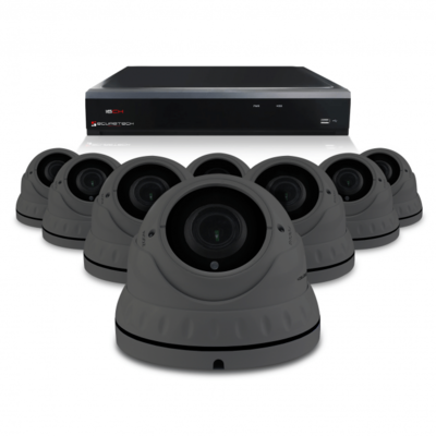 Camerabewaking set met 8 Dome camera 4MP 2K HD Analoog