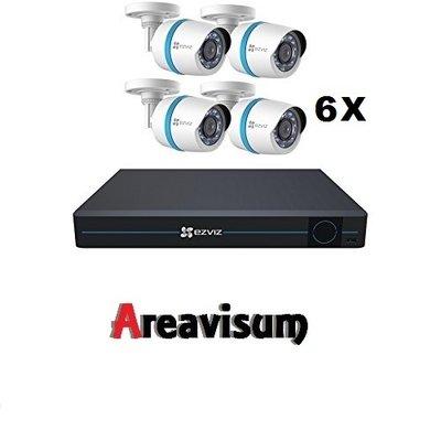 IP set compleet met 8 kanaals NVR en 6 bullet camera's  ( CS-BN8-EU ) + 2