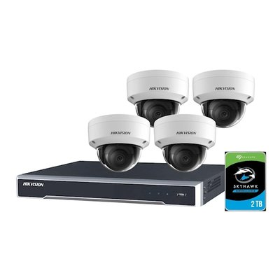 Hikvision , compleet NVR met 4 Camera's + NVR + HDD