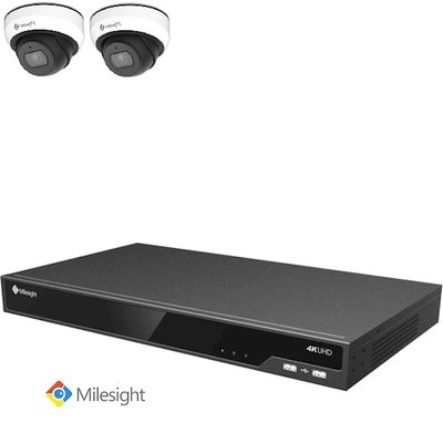 Milesight NVR 4TB + 2 2MP Dome