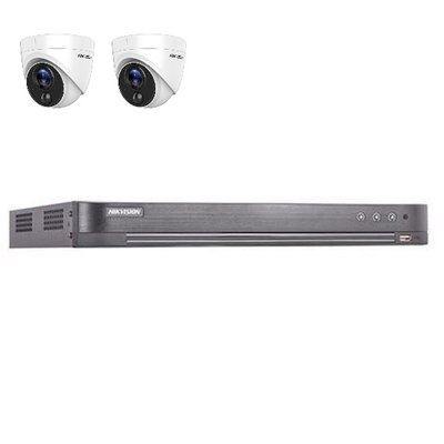 Hikvision DS-7204HUHI-K2 4 kanaals met 2 x 2MP camera