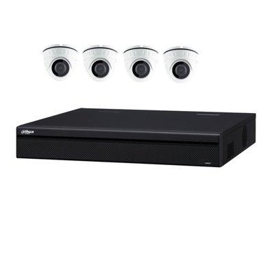 Compleet camera set met 4 x Mini-Dome camera's – 2MP 1080P wit