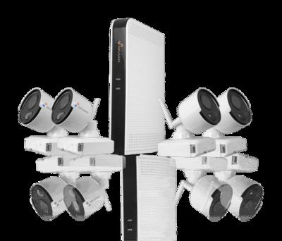 WiFi camerasysteem met 4 draadloze Bullet-camera 2MP 1080P op accu