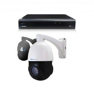 Beveiligingscamera set 4 x bestuurbare PTZ Dome camera – 5MP – Draadloos