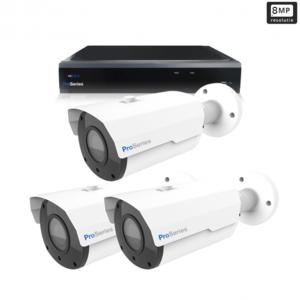 Beveiligingscamera set 3 x Bullet camera 8MP 4K UHD – Draadloos
