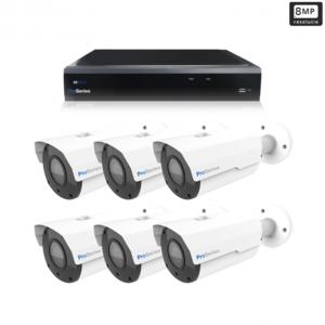 Beveiligingscamera set 6 x Bullet camera 8MP 4K UHD – Draadloos