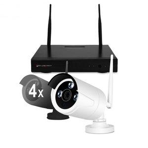 HD IP draadloos 4 camera bewaking systeem Primovo Space