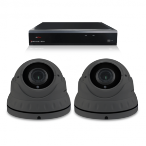 Bewakingscamera set met 2 Dome camera – 4MP 2K HD – Draadloos