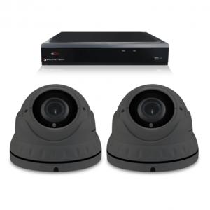 Camerabewaking set met 2 Dome camera – 4MP 2K HD – Analoog
