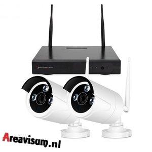 HD IP draadloos 2 camera bewaking systeem Primovo Space