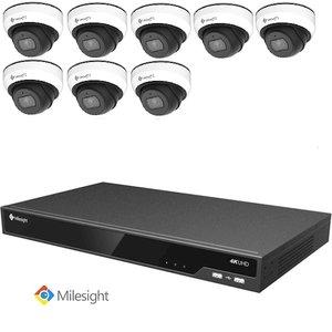 Milesight NVR 4TB + 8 2MP Dome