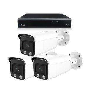 Bewakingscamera systeem met 3 x 4MP HD Colour - Series Bullet camera – bekabeld