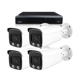Bewakingscamera systeem met 4 x 4MP HD Colour - Series Bullet camera – bekabeld