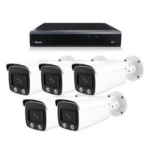 Bewakingscamera systeem met 5 x 4MP HD Colour - Series Bullet camera – bekabeld