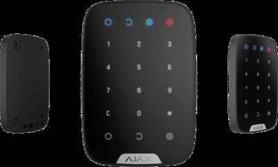 Ajax-draadloos-KeyPad-met-touch-bedieningstoetsen-zwart