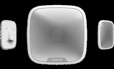 Ajax draadloos StreetSirene met optische LED signalering wit
