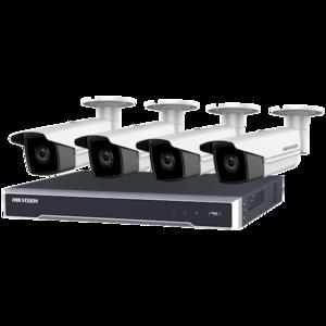 set met 4 X 6MP Bullet-camera's , 8 kanaals PoE NVR 2TB (recorder)
