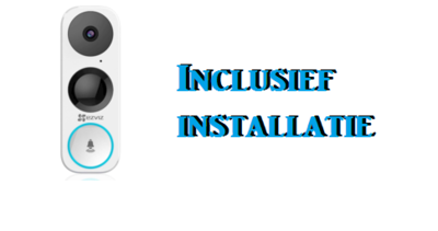 Deurbel met camera WiFi DB1 + installatie    Niet meer leverbaar