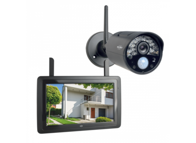"""Draadloze HD Beveiligingscamera Set (CZ30RIPS) met 7"""" scherm en app"""