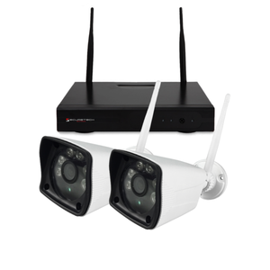 Nivian systeem met 2 draadloos 2MP camera's