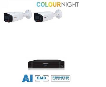 SPRO camera 5MP x 2 - kit met kleur-nachtzicht en audio