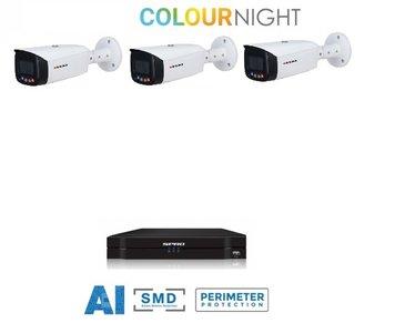 SPRO camera 5MP x 3 - kit met kleur-nachtzicht en audio