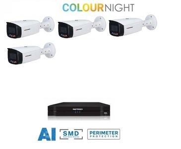 SPRO camera 5MP x 4 - kit met kleur-nachtzicht en audio