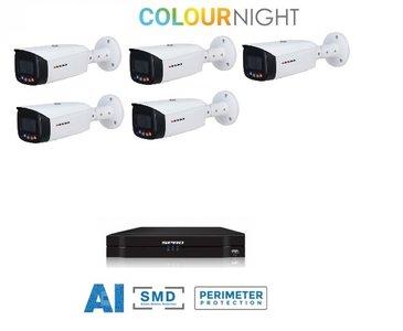SPRO camera 5MP x 5 - kit met kleur-nachtzicht en audio