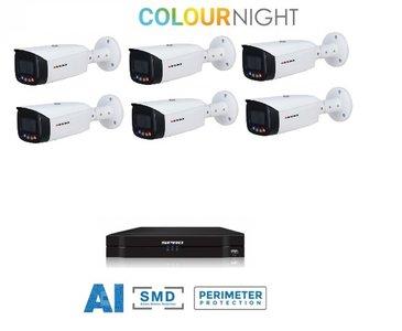 SPRO camera 5MP x 6 - kit met kleur-nachtzicht en audio