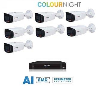 SPRO camera 5MP x 7 - kit met kleur-nachtzicht en audio